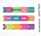 set of rulers from four arrows... | Shutterstock .eps vector #184579859