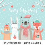Christmas Card With Animals ...