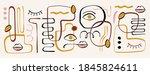 modern abstract elements set ... | Shutterstock .eps vector #1845824611