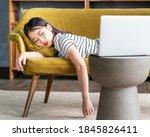 Young Asian Girl Fell Asleep...