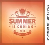 summer vector typography.... | Shutterstock .eps vector #184584431