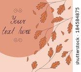 template with orange autumn... | Shutterstock .eps vector #184584875