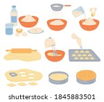 baking products and process of... | Shutterstock .eps vector #1845883501