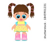beautiful children's toy doll... | Shutterstock .eps vector #1845901231