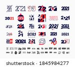 mega collection of 2021 happy... | Shutterstock .eps vector #1845984277