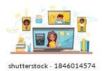 online learning vector stock...   Shutterstock .eps vector #1846014574