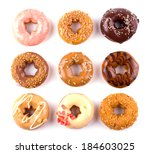 colorful donuts isolated on... | Shutterstock . vector #184603025