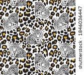 animal leopard pattern design... | Shutterstock .eps vector #1846036447