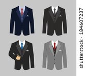 set of different colors... | Shutterstock .eps vector #184607237