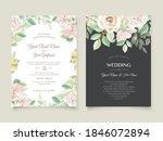 beautiful hand drawn roses... | Shutterstock .eps vector #1846072894