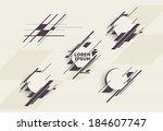 abstract geometric design. set... | Shutterstock .eps vector #184607747