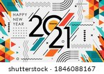 happy new year 2021 banner... | Shutterstock .eps vector #1846088167
