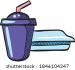 soft drink icon in color...
