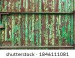 Old Green Iron Door  Rusty Door ...