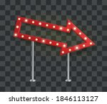 realistic red arrow signage... | Shutterstock .eps vector #1846113127
