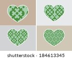 heart icon and hearts symbol... | Shutterstock .eps vector #184613345