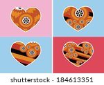 heart icon and hearts symbol...   Shutterstock .eps vector #184613351