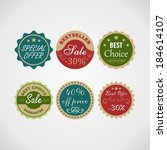 sale labels set. | Shutterstock .eps vector #184614107