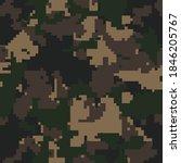 digital  camouflage seamless... | Shutterstock .eps vector #1846205767