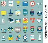 Set of flat business, commerce, internet service icons for design - part 1 - vector icons