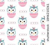 animals repeat pattern. nursery ...   Shutterstock .eps vector #1846210261