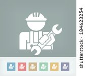 worker icon | Shutterstock .eps vector #184623254