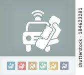 emergency call | Shutterstock .eps vector #184623281