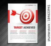 vector achievement  flyer... | Shutterstock .eps vector #184623941