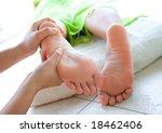 woman having foot reflexology | Shutterstock . vector #18462406