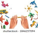 plasticine modeling clay school ...   Shutterstock .eps vector #1846257094