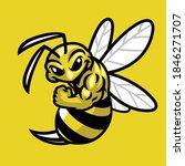 vector of bee muscle sport... | Shutterstock .eps vector #1846271707