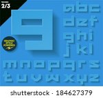 modern flat alphabet for... | Shutterstock .eps vector #184627379