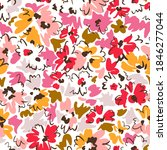 bright floral seamless pattern. ... | Shutterstock .eps vector #1846277044