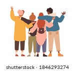 group of young people hugging... | Shutterstock .eps vector #1846293274