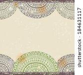 vintage ethnic horizontal... | Shutterstock .eps vector #184631117