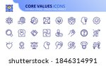 outline icons about core values.... | Shutterstock .eps vector #1846314991