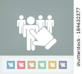 people selection icon | Shutterstock .eps vector #184632377