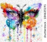 butterfly vector geometric...   Shutterstock .eps vector #184635191