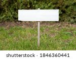 Blank Mock Up Wooden Sign In...