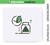 homeopathy line icon.herbal... | Shutterstock .eps vector #1846361884