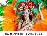 brazilian wearing samba costume | Shutterstock . vector #184636781