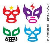 lucha libre faces vector design ... | Shutterstock .eps vector #1846371424