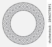 circular pattern in arabesque...   Shutterstock .eps vector #1846375891