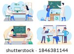 set of illustrations about data ...   Shutterstock .eps vector #1846381144