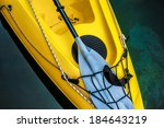 Colorful Yellow Kayak Canoe...