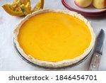 pumpkin pie and chopped pumpkin ...   Shutterstock . vector #1846454701