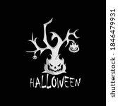 halloween party label template... | Shutterstock .eps vector #1846479931