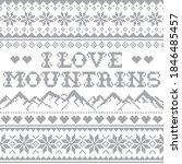 i love mountains vector... | Shutterstock .eps vector #1846485457