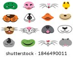 set of animal faces. collection ... | Shutterstock .eps vector #1846490011