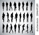 Set Of Urban Male Silhouettes...